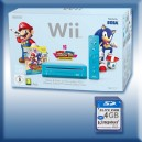 Wii bleue : pack Mario Sonic London 2012 avec puce Wiikey 2